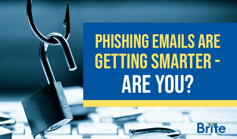 Phishing Emails Are Getting Smarter - Are You Blog Graphic with fish hook and padlock to promote security awareness training
