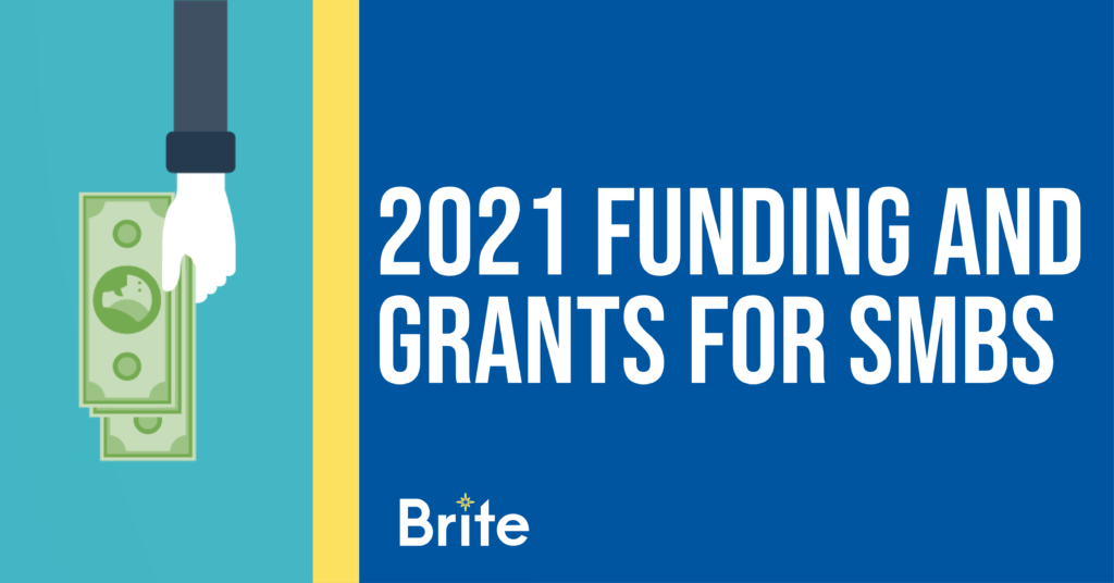"""Blog graphic with """"2021 Funding and Grants for SMBs"""" title"""